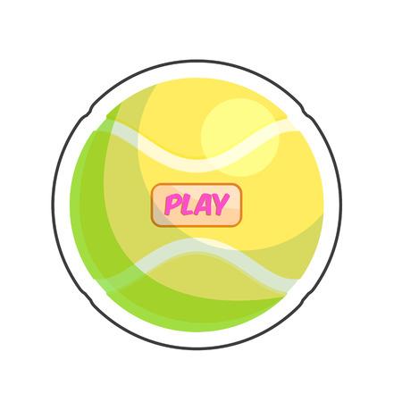 Dog playful ball cartoon sticker vector illustration for pet shop Illustration