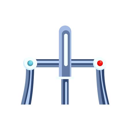 Faucet cartoon vector icon illustration isolated on white Illustration