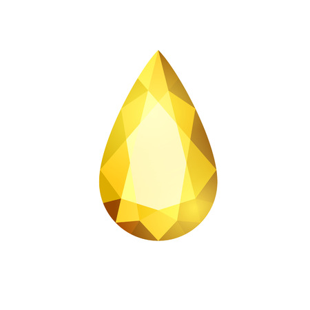 geometric gem icon cartoon style vector illustration