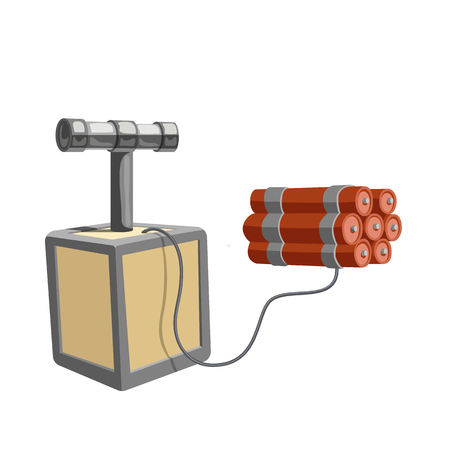 Dynamite isolated icon. Wild west bomb vector illustration