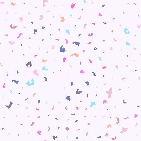 Terrazzo handcrafted seamless pattern. Abstract venetian vector background. Chaotic pastel colourful surface design.