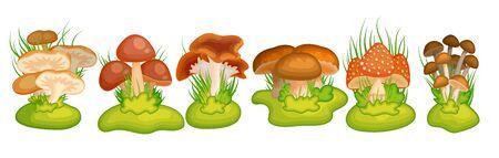 Cartoon mushroom for banner design Ilustração