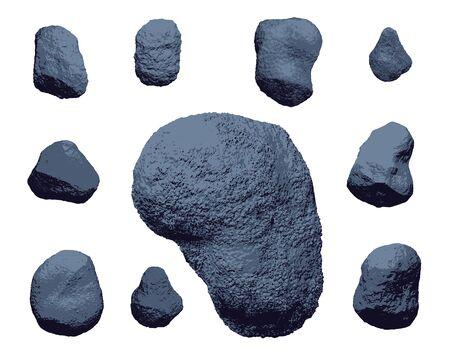 Organic rough surface stones