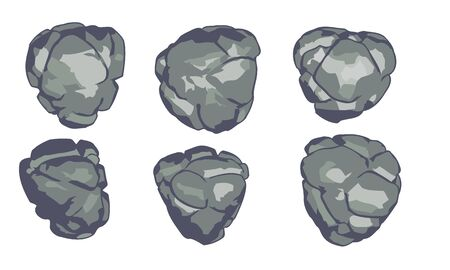 Cartoon stones formation collection
