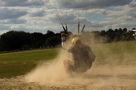 reason: Parachutist landing on the sand