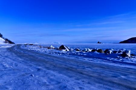 Spring landscape on Okhotsk sea Stock Photo - 13637382