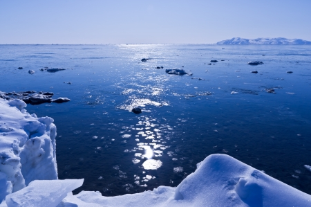 Spring landscape on Okhotsk sea  Stock Photo - 13637397