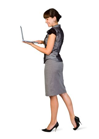 Beautiful Businesswoman with Laptop photo