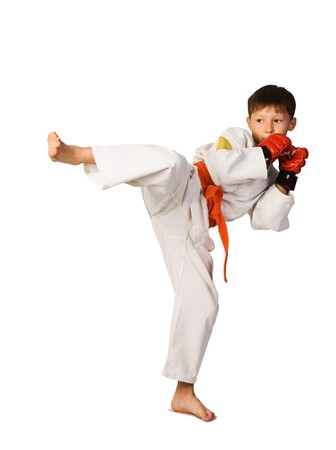 aikido: aikido boy Stock Photo
