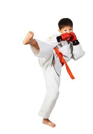 sports form: aikido boy Stock Photo