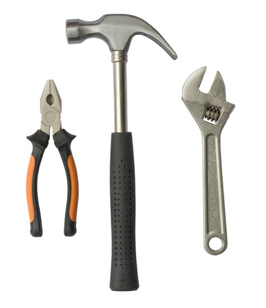 Set of tools isolated on a white background Stock Photo - 7740392