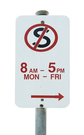no stopping traffic sign on white background photo