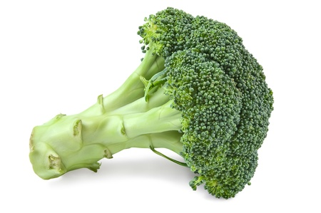 broccoli: Ripe broccoli cabbage Isolated on White Background Stock Photo