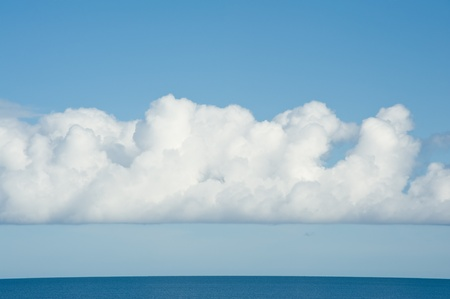 rippled: Landscape with beautiful cloudy sky and calm sea