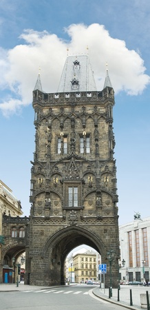 Powder Tower in Prague, Czech Republic,15th century photo