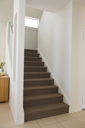 House interior with a modern stairs photo