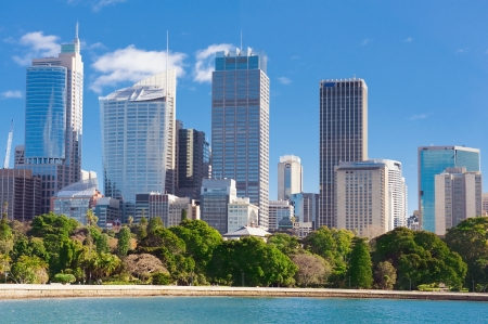 south coast: skyline of Sydney with city central business district at the noon Stock Photo