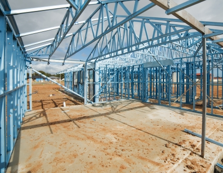 steel structure: New residential construction home metal framing