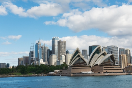 sydney harbour: skyline of Sydney with city central business district
