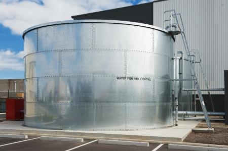 消火用水タンク 写真素材