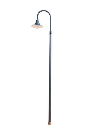 street lamppost isolated on white background
