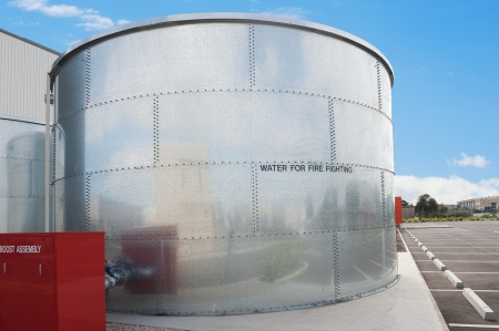 industrial water tank for fire fighting photo