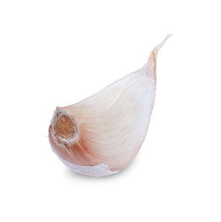 garlic clove: clove of garlic isolated on white background