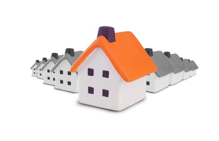 house inspection: Conceptual image of the search and inspection of the house.Isolated on a white background