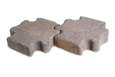road block: Two paving stones isolated on a white background