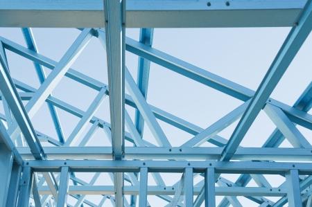 新しい住宅建築家金属フレーミング青空シロアリ抵抗力があります。
