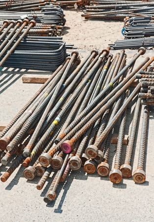 reinforcing steel bars for the  construction concrete industry photo