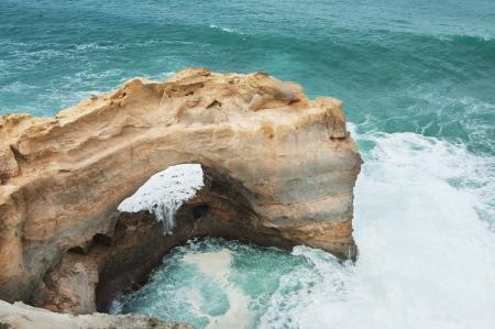 Famous rocks The Arch ,Great Ocean Road, Australia photo