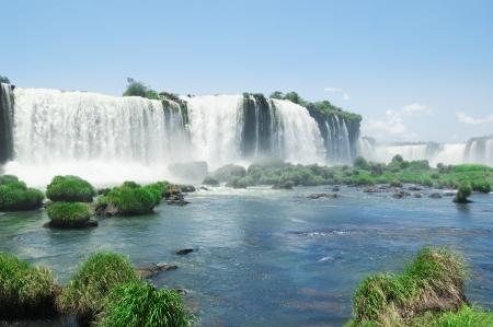 the famous Iguazu Falls on the border of Brazil and Argentina photo