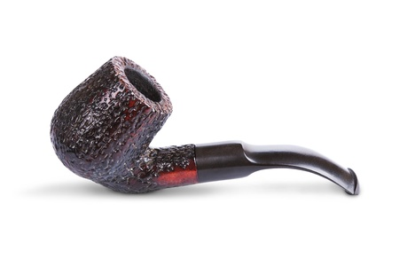 overuse: Retro tobacco pipe isolated on a white background