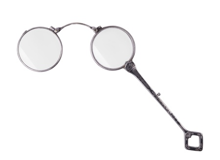rarity: rarity vintage lorgnette isolated on white background  Stock Photo