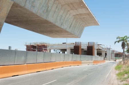 fragment  view  of the road under reconstruction  photo