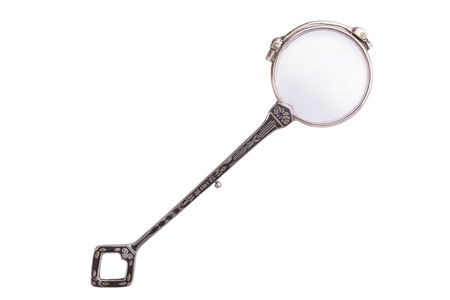 rarity: Folded rarity vintage lorgnette isolated on white background