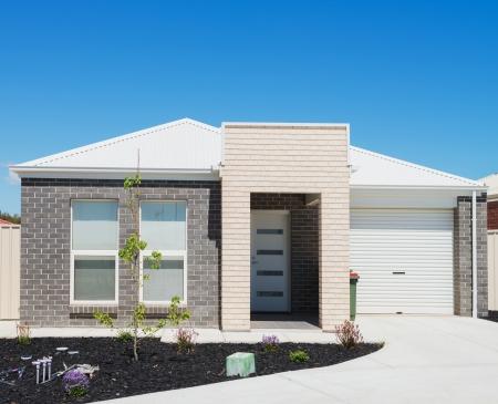 home exterior: typical  facade of a modern suburban  house