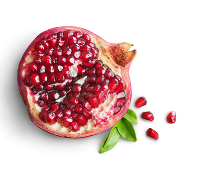 Juicy pomegranate fruit isolated