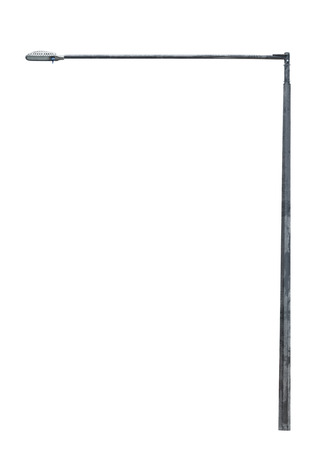 street lamppost isolated on white background photo