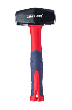 sledge hammer: Metal sledge hammer with composite handle isolated on white Stock Photo