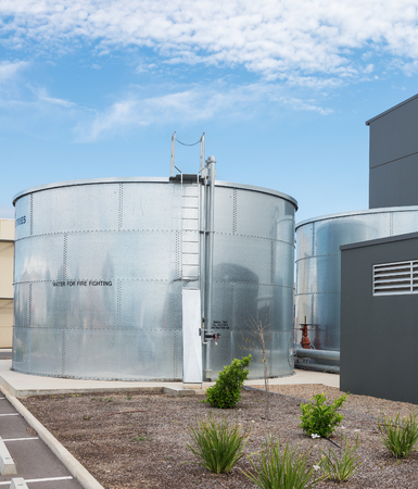 tank: industrial water tank for fire fighting