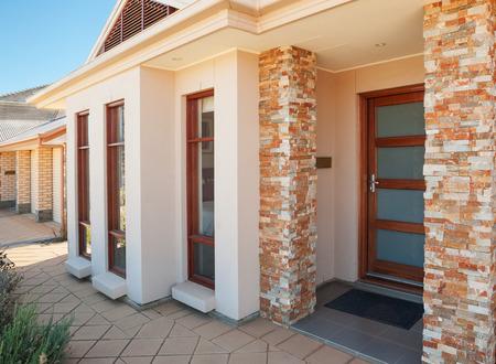 Typical facade of a modern australian suburban house. Fragment