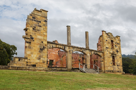 Ruins of  old  jail hospital at Port Arthur Historic Site in Tasmania, Australia Stock Photo