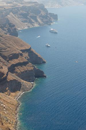 Caldera of Santorini island, Greece