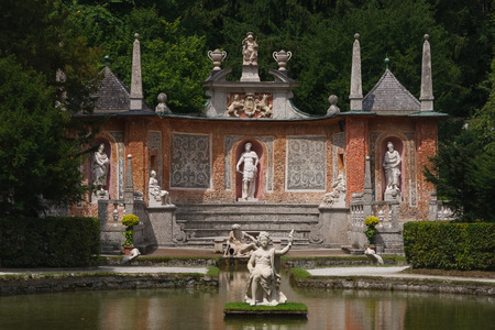 Hellbrunn palace under Salzburg, Austria