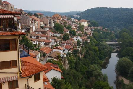 Town of Veliko Tarnovo, former capital of Bulgaria Stock Photo