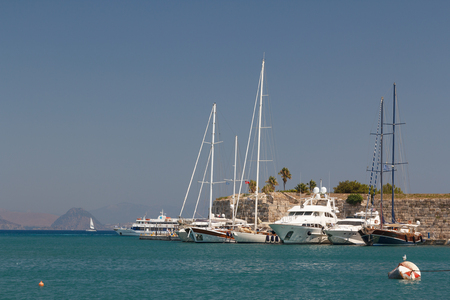 KOS  GREECE - AUGUST 2014: Harbour of the Kos town, Kos island, Greece Editorial