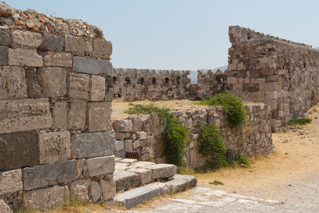 Ruins of the medieval castle in Kos town, Kos island, Greece