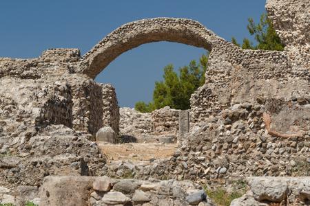 Roman ruins in the Kos town, Kos island, Greece